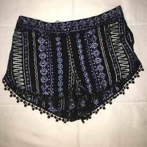 Boutique embroidered shorts